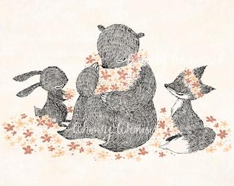 Happy Gathering - 5x7 Print