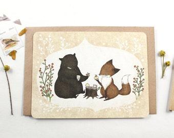 30% OFF - 10 Notecards - It's Tea Time