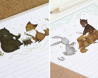 Set of 2 Mini Woodland Letter Writing Set