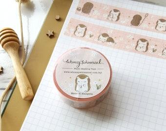 Washi Tape - Hedgehog Flower | Original Design | Eco-Friendly Packaging Tape