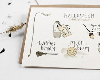 70% OFF - Halloween Secret Recipe - 10 Greeting Cards