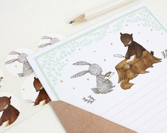 12 Mini Woodland Letter Writing Set - Let's Write You A Letter