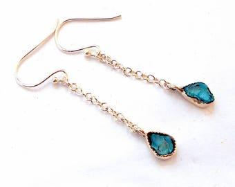 Blue Apatite Sterling Silver Earrings earthegy #2819