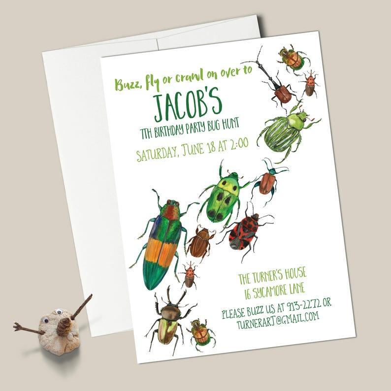 Bugs Birthday Invitations EDITABLE INSTANT DOWNLOAD