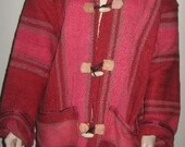 OOAK Vintage MINT Moroccan Tribal Ethnic Coat or Jacket Made From Rugs Bohemian Super Cozy Warm