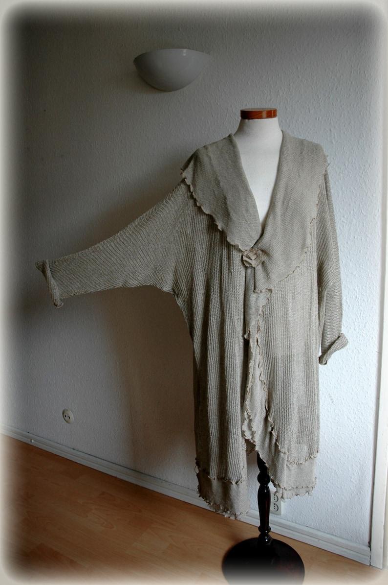 Oversized Cardigan Lagenlook Clothing,Plus Size Sweater,Bohamian Sweater Bohemian Clothing Natural Cardigan LINEN Wrap Sweater