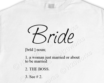 Bride 8x8 Large Image & Transfer, Dictionary Definition, Canvas Totes, Prints, T-Shirts, Pillows, PRINTABLE
