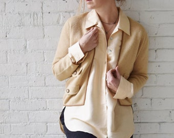1950s Camel Hair Cardigan | Retailed by Saks 5th Ave. | Size Small-Medium