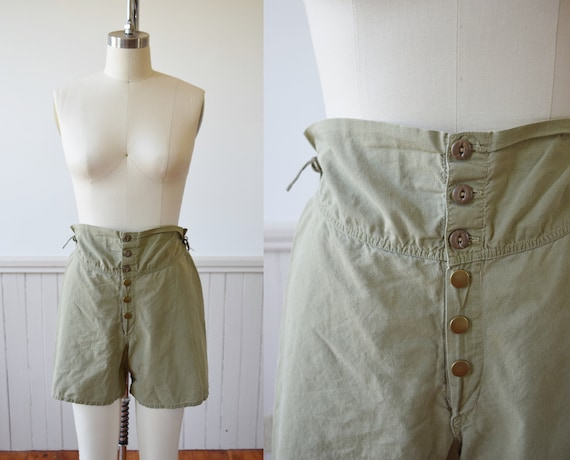 1940s Army Issue Boxer Shorts | Vintage 40s Cotton