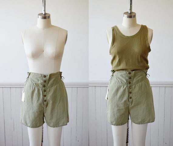 1940s Army Issue Boxer Shorts | Vintage 1940s Loun