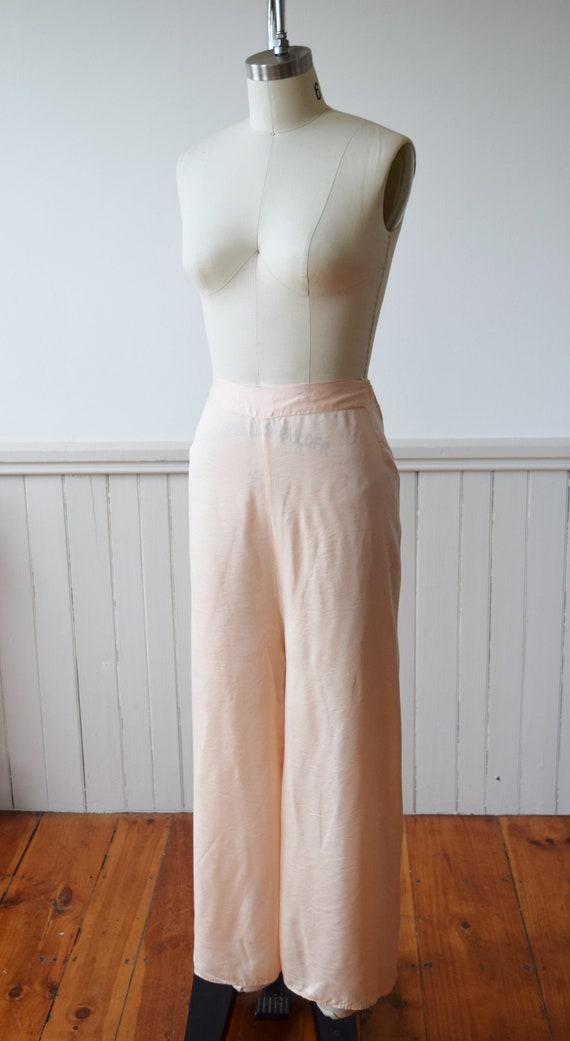 1940s Silk Pajama Set | Top + Wide Leg Pants | Vi… - image 8