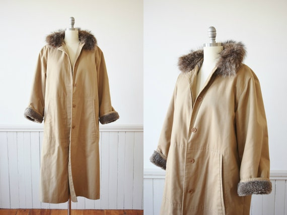 1970s Bonnie Cashin Fleece Lined Trench | Vintage