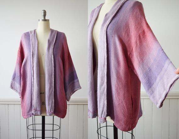 Vintage Hand-Loomed Silk Art Teacher Cardigan | 19