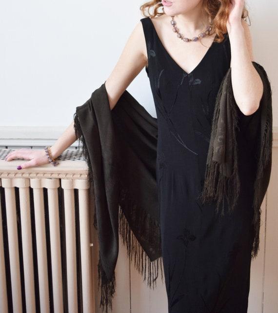 Mary Brooks' Antique Silk Shawl | Victorian Black