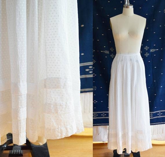 Antique Swiss Dot Skirt | Petticoat | Edwardian Er