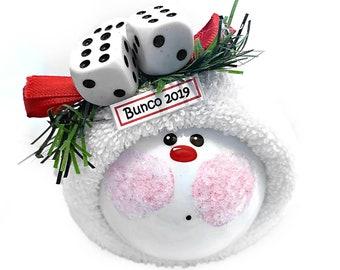 Bunco Bunko Christmas Ornaments Dice Townsend Custom Gifts