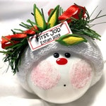 First Job Christmas Gift Ornament See Samples Personalized Hand Painted Handmade Townsend Custom Gifts