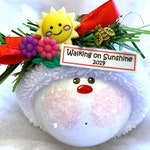 Walking On Sunshine Christmas Ornament Personalized Snowball Ornament Hand Painted