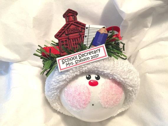 Secretary Christmas Gifts Ornaments School Paper Pencil Color   Etsy