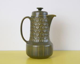 Vintage Coffee Pot, Wedgwood Green Coffee Pot, Retro Green Ceramic Coffee Pot, Vintage Teapot, Cambrian Coffee Pot