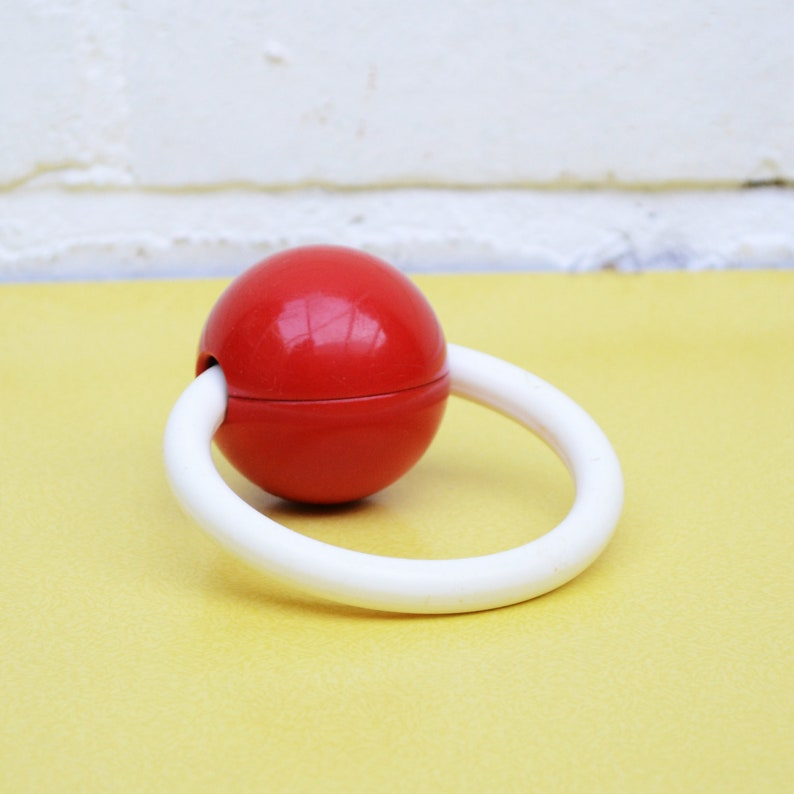 ec22e5dac715 Vintage Baby Rattle Retro Mothercare Baby Rattle Red