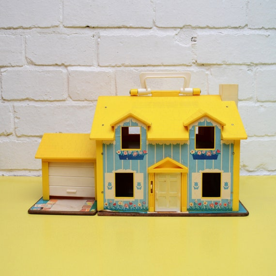 Vintage Fisher Price Dollhouse Sale 952 House Yellow Roof Etsy