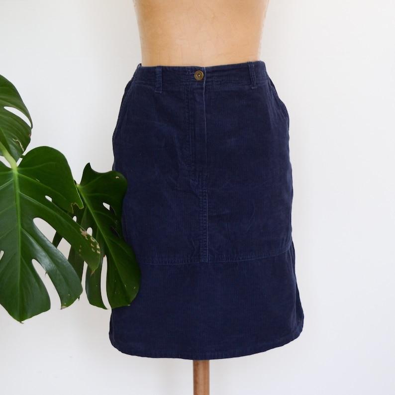 3b5b57176 Vintage Navy Blue Skirt Size 10 Corduroy St Michael Skirt   Etsy