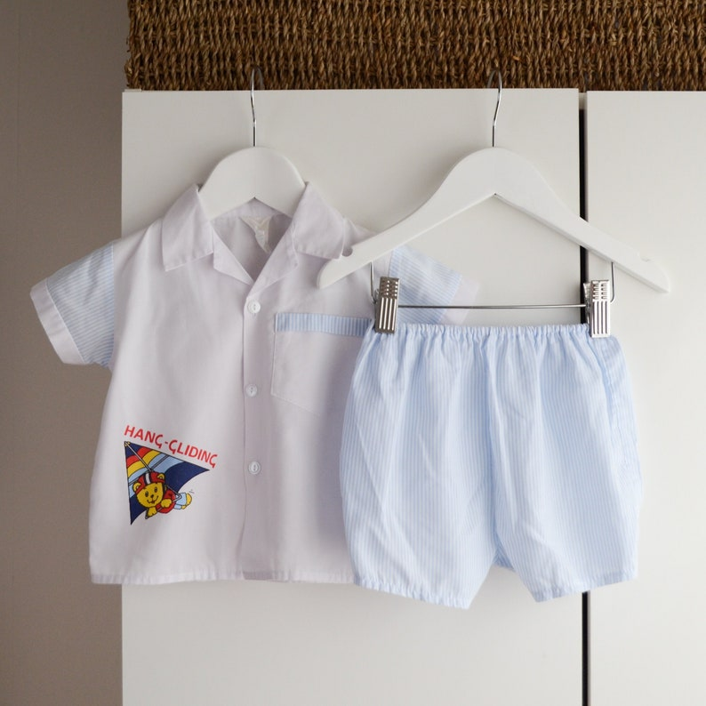 bc09b9c10e0f Vintage Baby Shirt and Bloomers Set Age 12-18 Months Baby Boy
