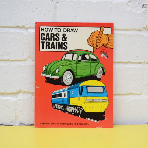 Vintage Drawing Guide Book Children S How To Draw Cars Etsy