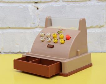 Vintage Toy Cash Register, Casdon Minicash Toy, Retro Cash Till, Vintage Shop Till Toy, 70s Children's Cash Machine, Plastic Cash Register