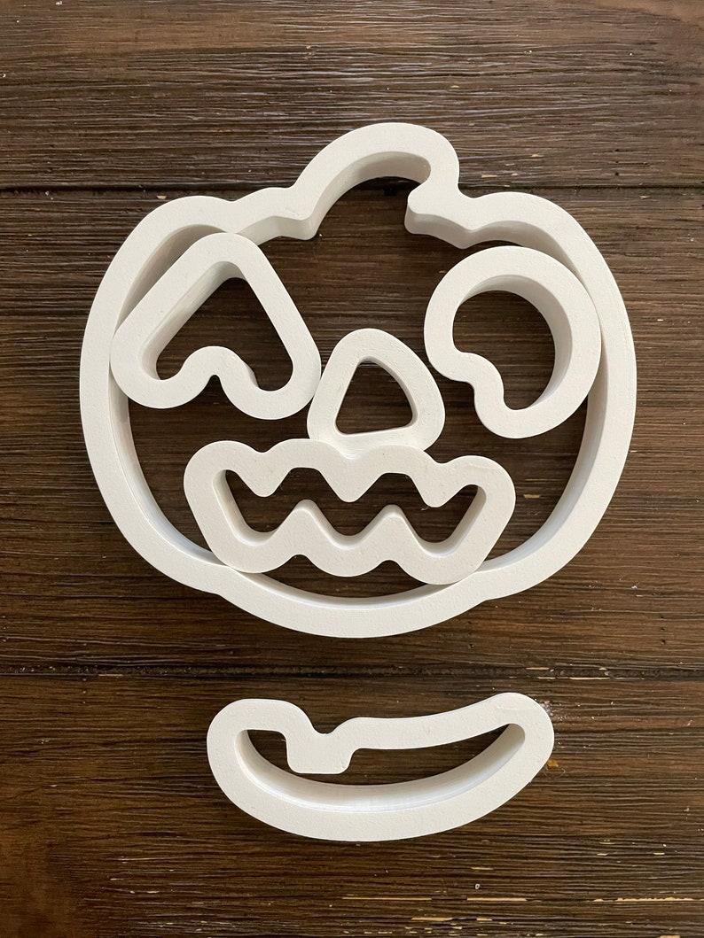 FREE SHIPPING Set of 6 Pumpkin-Jack'o lantern cookie image 1