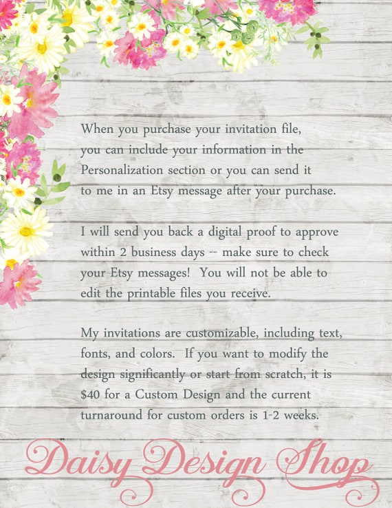 Princess and Floral Frame JPEGPDF files to Print Yourself Bridal Shower Invitation Printable Snow White Silhouette