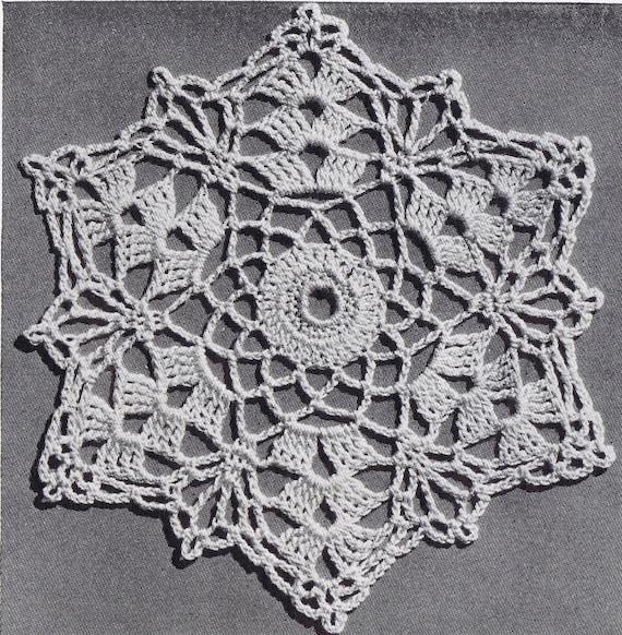 Sea Shell Delicacy Vintage Crochet Bedspread Pattern In Shell Etsy