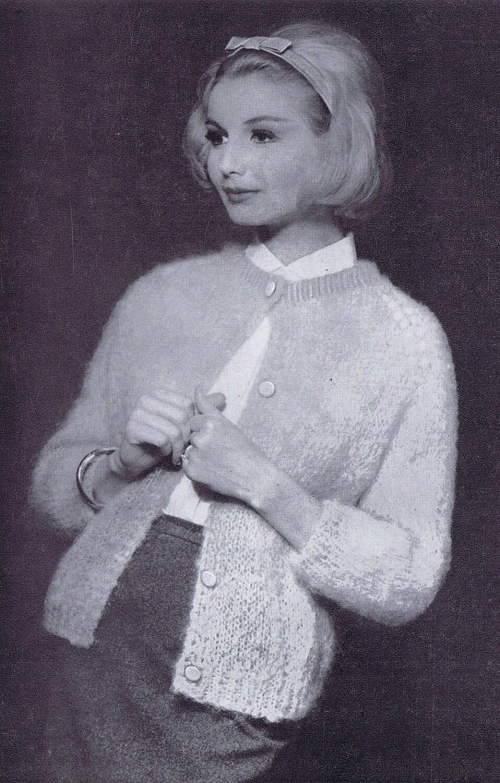 3 4 Sleeve Women S Mohair Cardigan Vintage Knitting Etsy