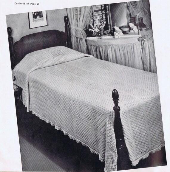 Ensoñación punto piña cubrecama colcha Vintage patrón PDF c. | Etsy