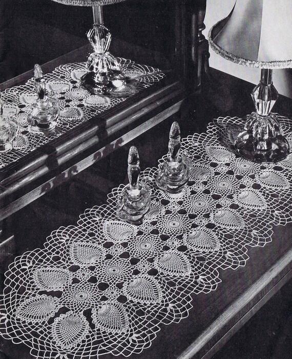 Tablerunner Pineapple Doily Vintage Crochet Pattern Pdf C Etsy
