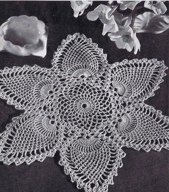 Doily Centerpiece Tablecloth Pineapple Doily Vintage Etsy