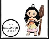 45mm-MOANA INSPIRED ENAMEL Bubblegum Necklace Pendant, Gumball Necklace Pendant, Chunky Necklace Pendant, Summer, The Bubblegum Bead Co.