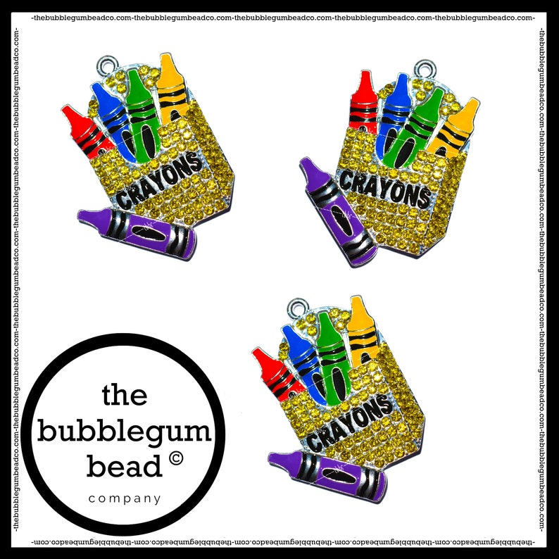 The Bubblegum Bead Co. Chunky Necklace Pendant Princess Gumball Necklace Pendant 50mm-PRINCESS GIRL RHINESTONE Bubblegum Necklace Pendant