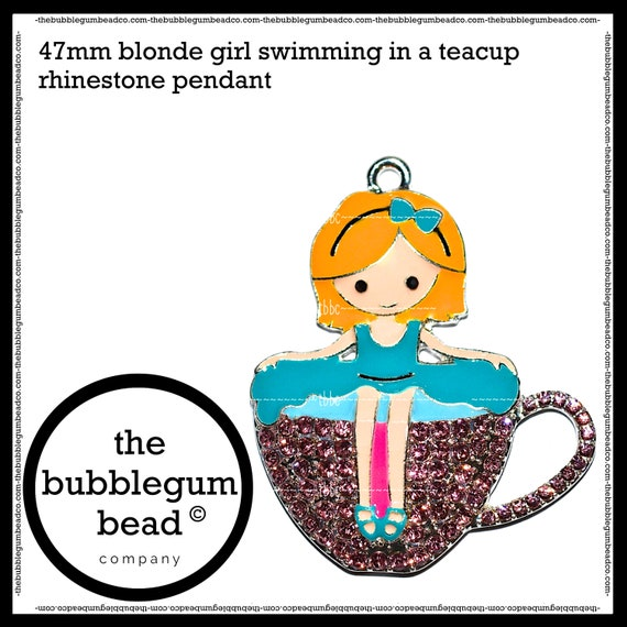 The Bubblegum Bead Co. 40mm-RESIN GLITTER SHELL Pendant Bubblegum Necklace Pendant Gumball Necklace Pendant Chunky Necklace Pendant