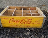 Vintage COKE Wooden Crate. Coca COLA Crate. Coke Bottle Display Case. Wooden Coca Cola Bottle Crate Rustic Farmhouse Decor. Coke Advertising