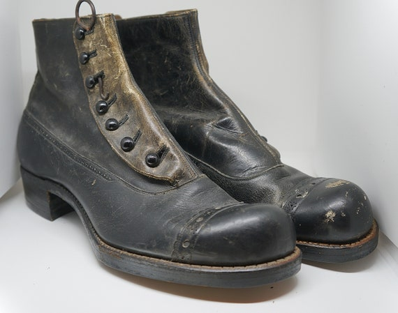 Antique Boots. Antique Victorian Edwardian High To