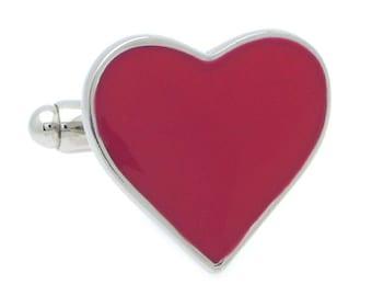 Red Heart Cufflinks