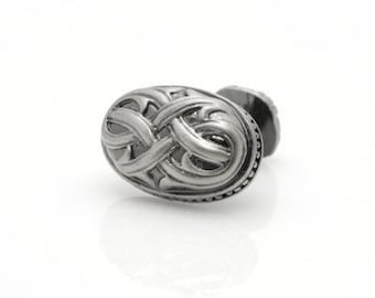 Classic Oval Knitted Cufflinks