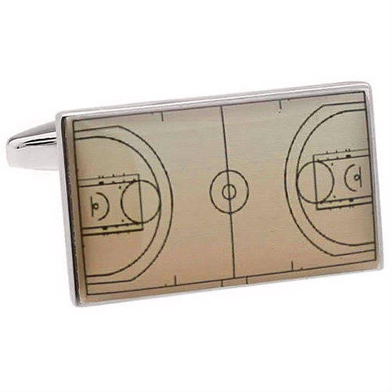 Basketball Court Cufflinks