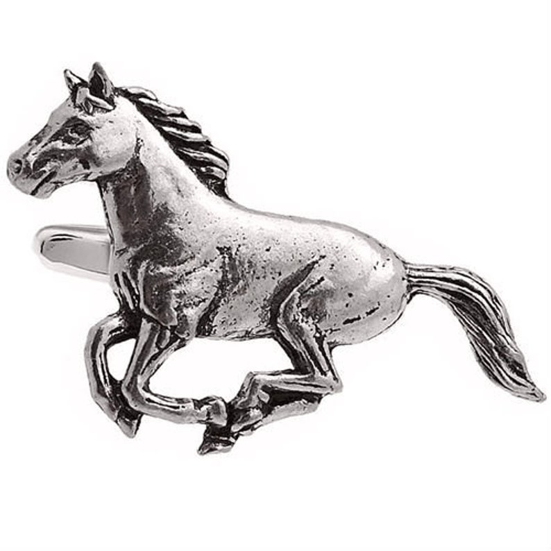Horse Pewter Cufflinks