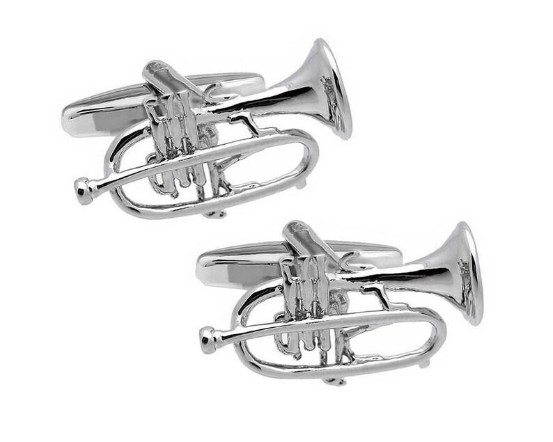 High Detail Large Trumpet Cufflinks