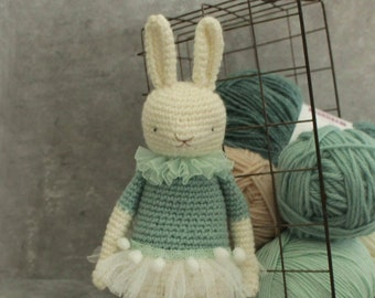 The Dancing Hare crochet pattern artist bunny rabbit Thread Bears instructions child small toy gift