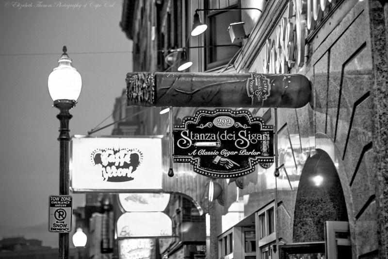 Stanza Dei Sigari History : Boston north end cigar salon photo massachusetts travel print etsy