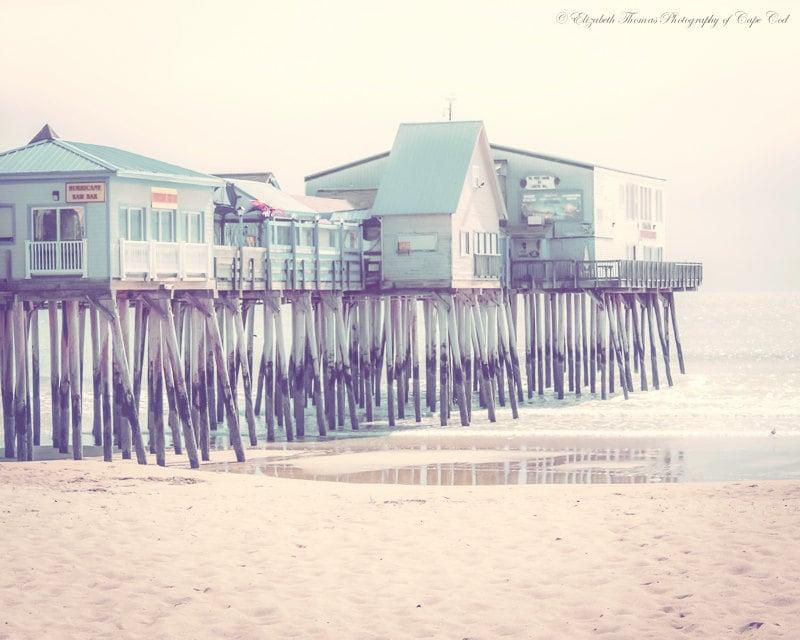 Atlantic Ocean Liz Thomas Coastal Nature MAINE Photography ~ OLD ORCHARD Beach Sand Muted Colors Scenic Landscape Travel Art